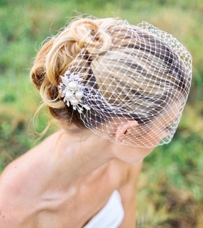 Wedding Veils - Bridal Birdcage Veil - Available in White and Ivory