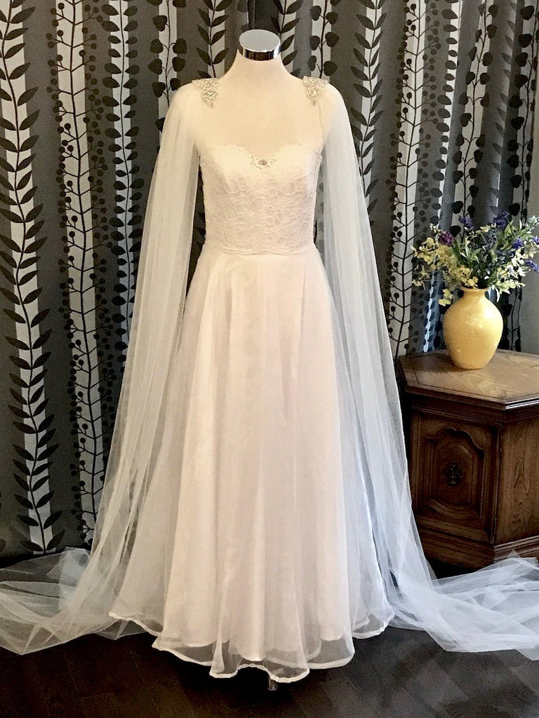 Wedding Veils - Bridal Cape Veil - Cathedral Length
