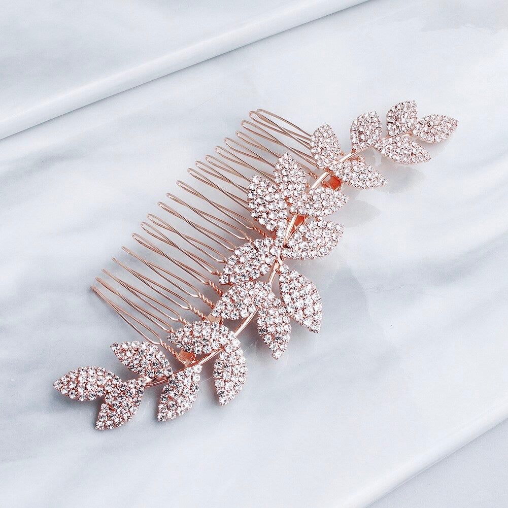 Wedding Hair Accessories - Crystal Bridal Hair Comb - Available in Rose Gold, Silver and Yellow Gold