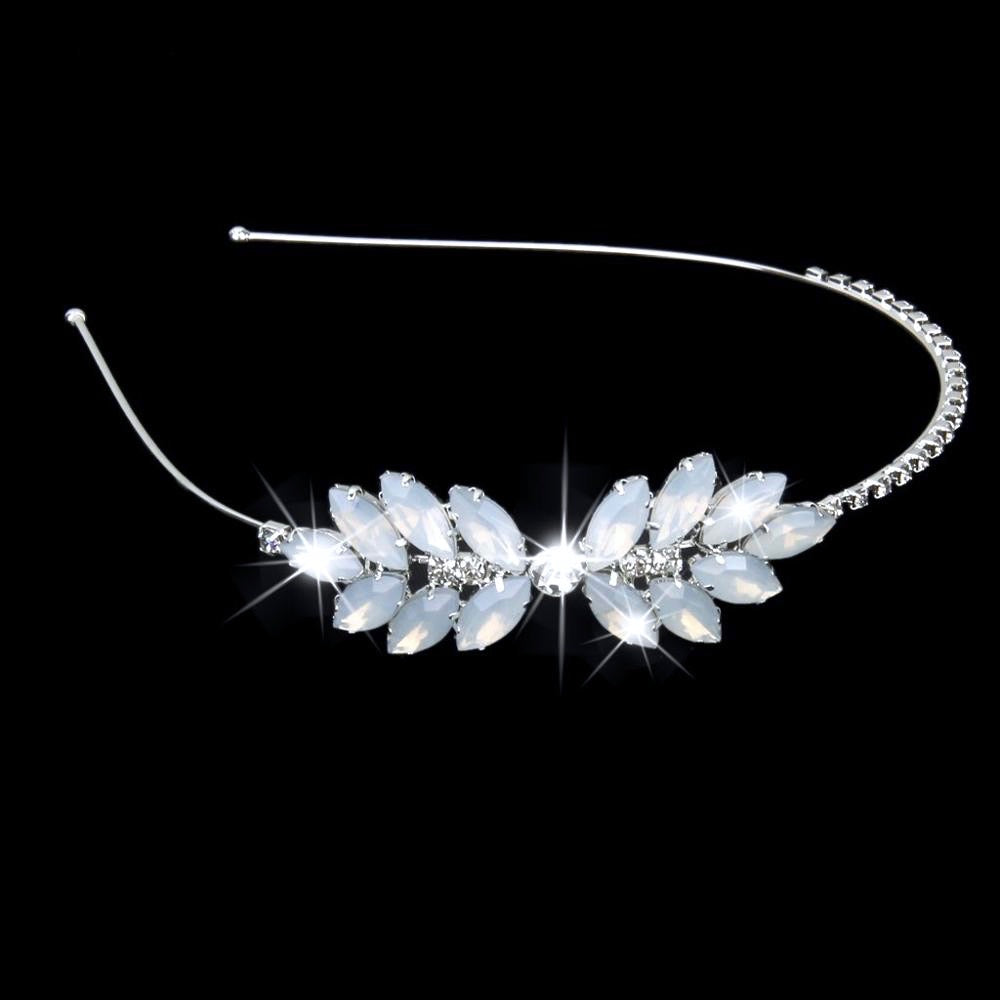 Wedding Hair Accessories - Swarovski Opal Bridal Side Headband