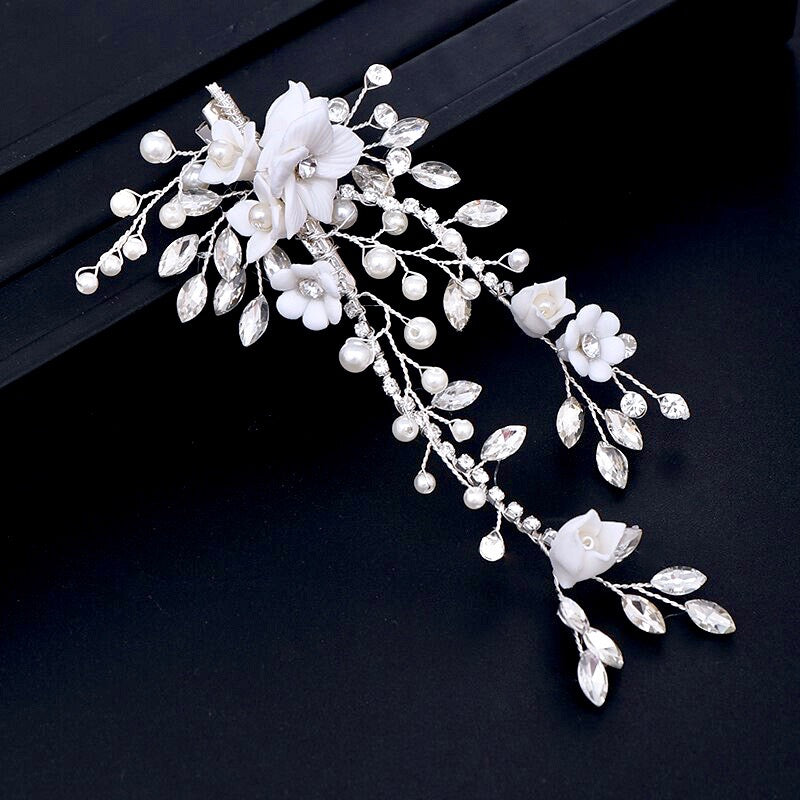 Wedding Hair Accessories - Pearl and Crystal Bridal Hair Clip/Vine