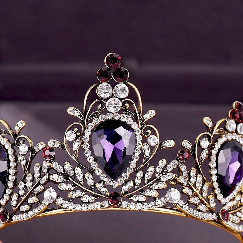 Wedding Hair Accessories - Victorian Gothic Purple Bridal Tiara