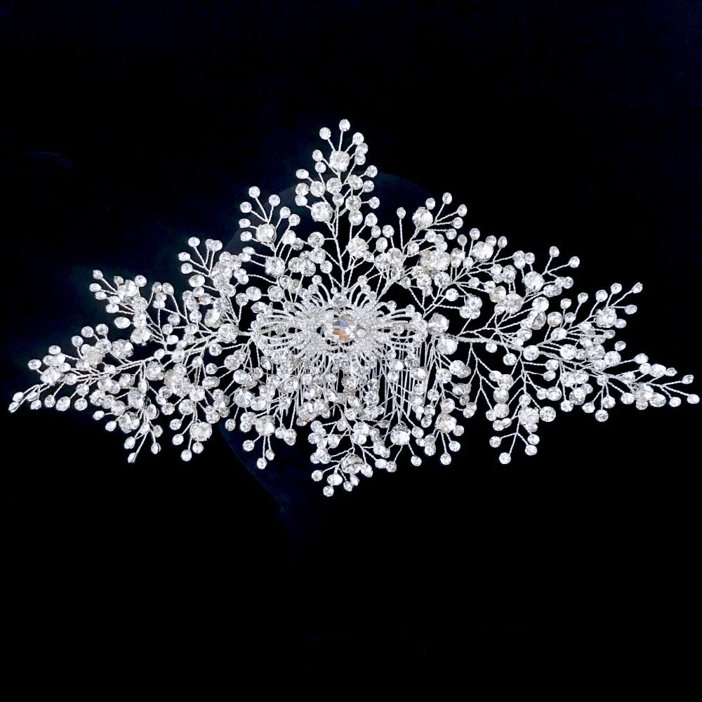 Wedding Hair Accessories - Silver Crystal Bridal Hair Vine
