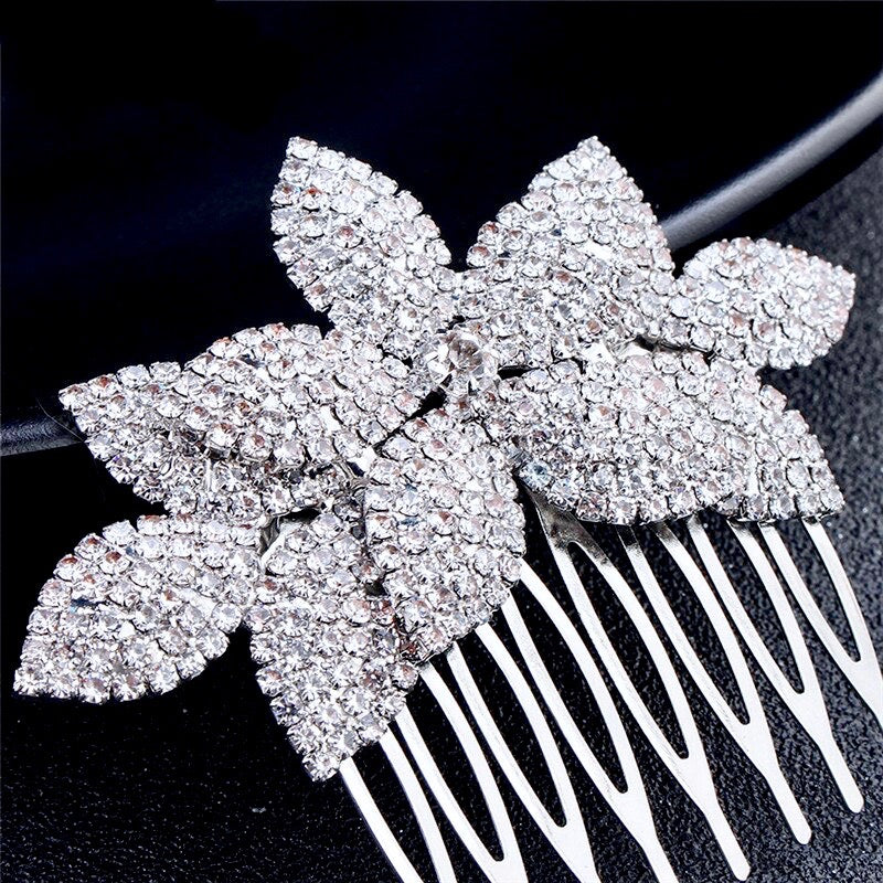 Wedding Hair Accessories - Crystal Bridal Hair Comb - Available in Yellow Gold, Rose Gold and Silver