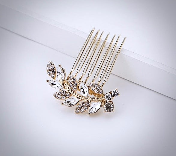 Wedding Hair Accessories - Crystal Bridal Hair Comb - Available in Gold and Silver