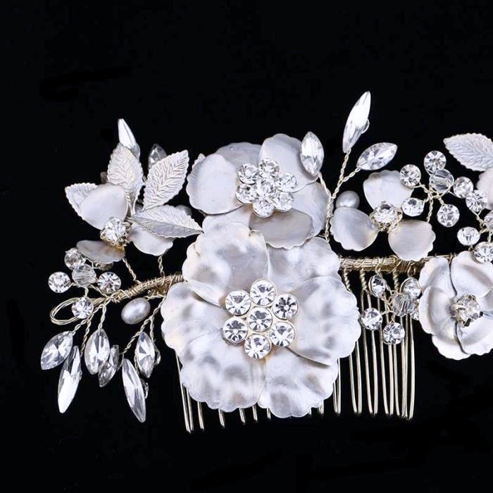"""Amaya"" - Pearl and Crystal Bridal Hair Comb"