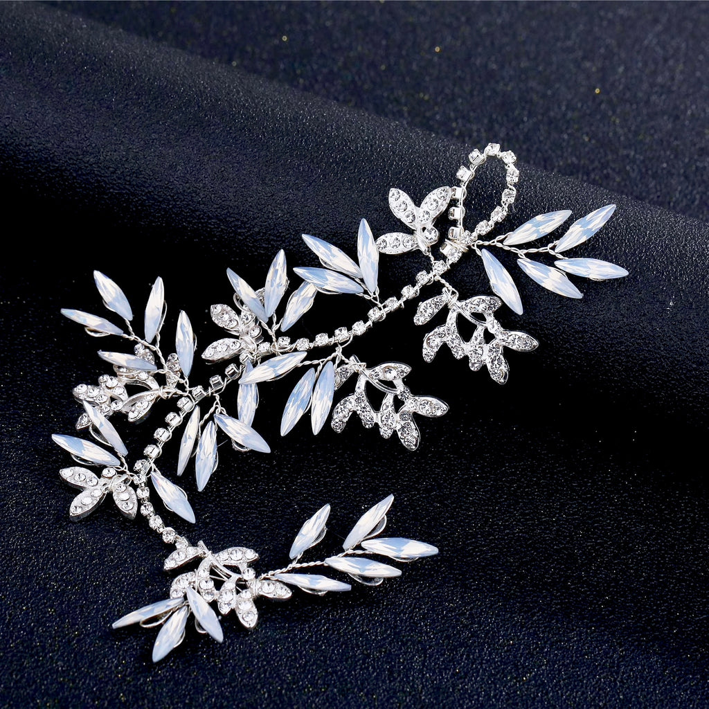Wedding Hair Accessories -  Swarovski Opal Bridal Hair Vine - Available in Silver and Gold