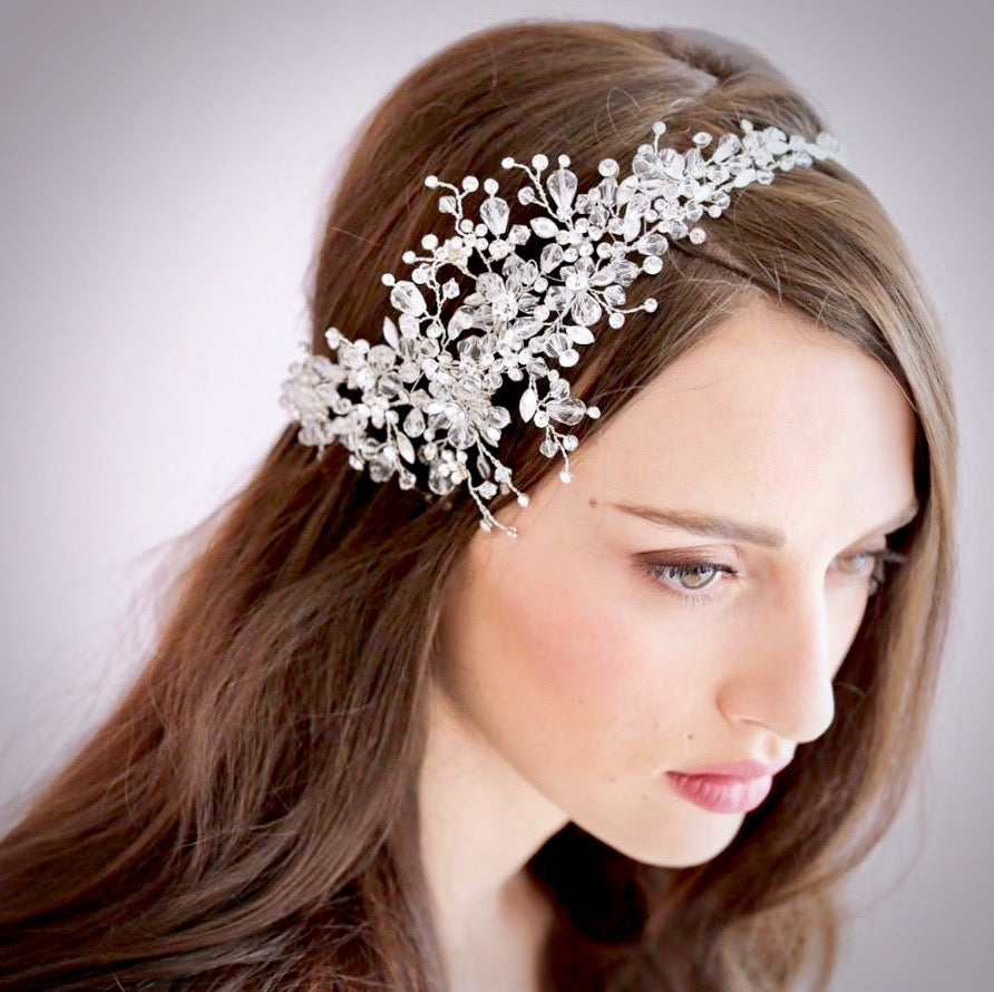 Wedding Hair Accessories - Austrian Crystal Bridal Hair Vine
