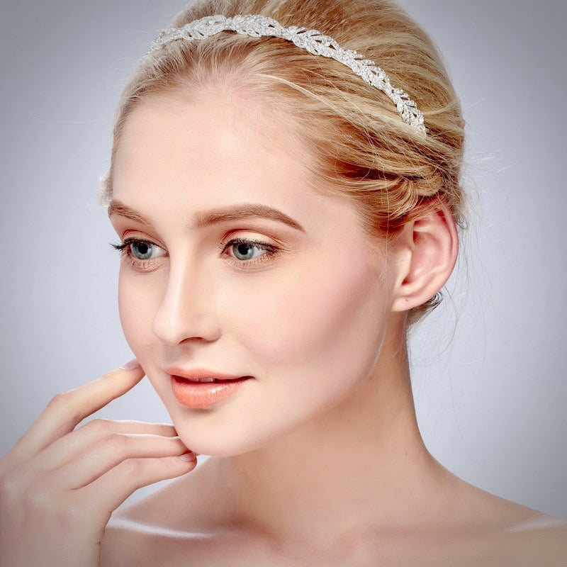 Wedding Hair Accessories - Crystal Bridal Headband - Available in Rose Gold, Silver and Yellow Gold
