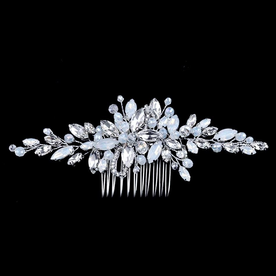 Wedding Hair Accessories -  Opal Bridal Hair Comb