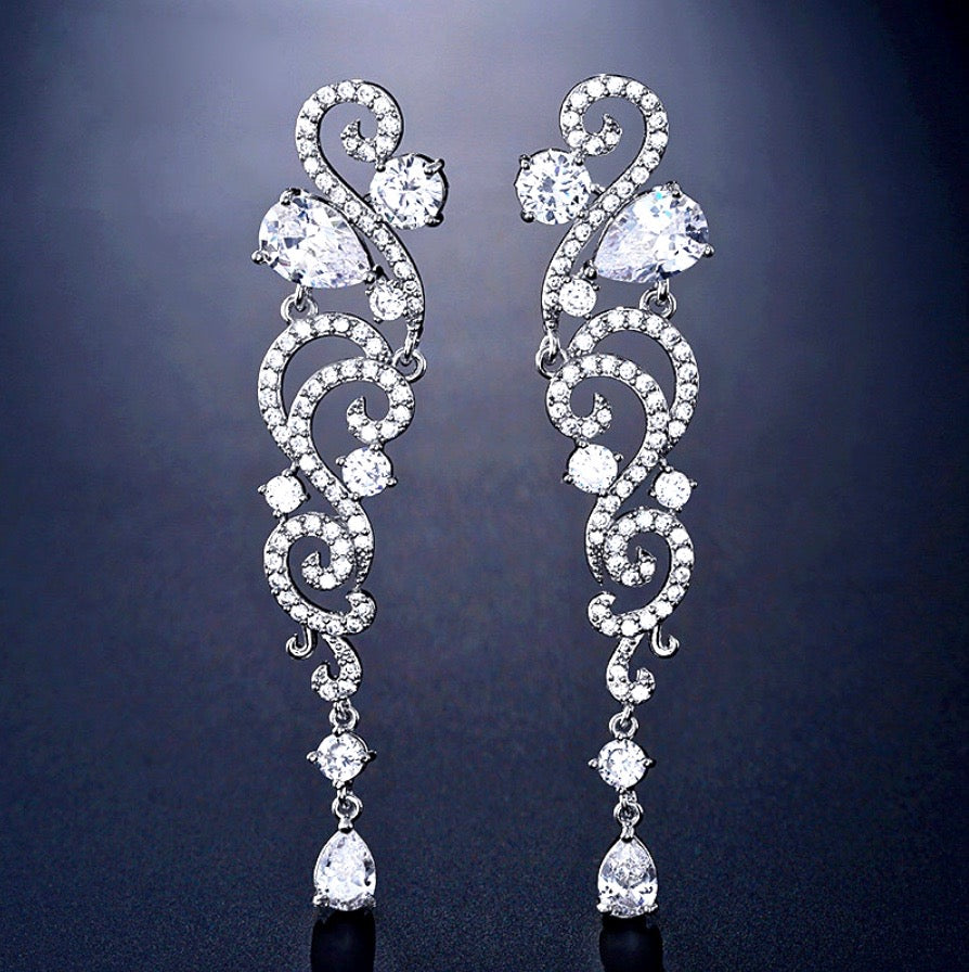 Wedding Jewelry - Rhinestone Bridal Earrings