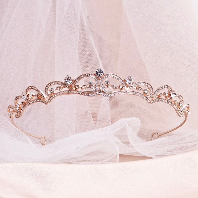 Wedding Hair Accessories - Rhinestone Bridal Tiara - Available in Silver, Rose Gold and Yellow Gold