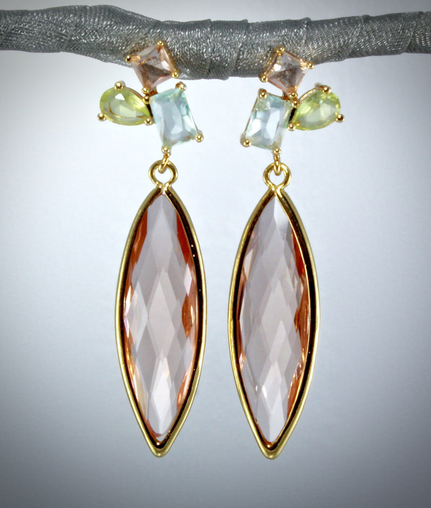 """Gabriela"" - Marquise Cubic Zirconia Earrings"
