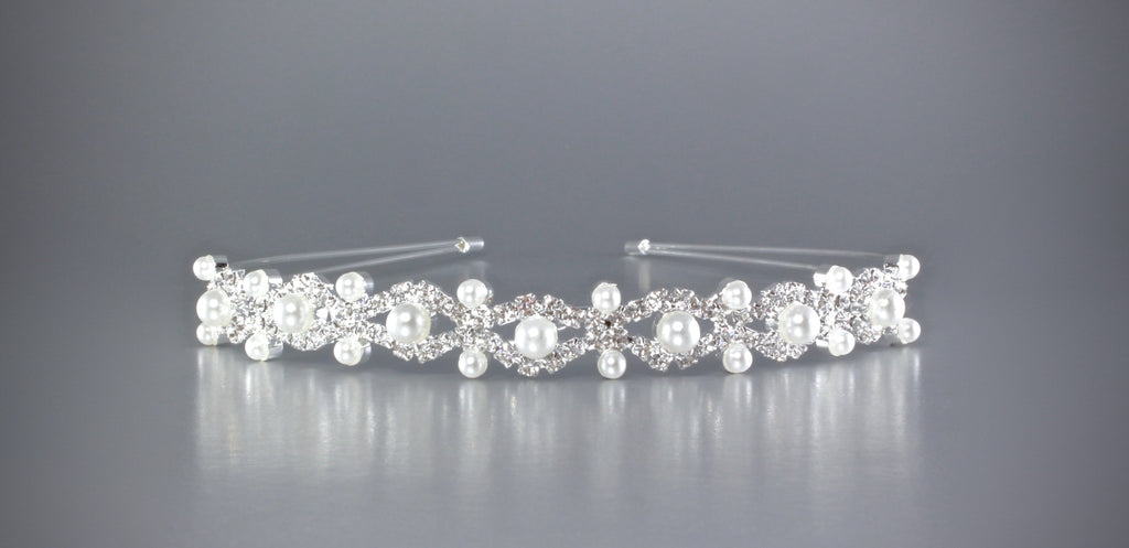 """Faye"" - Pearl and Crystal Bridal Headband"