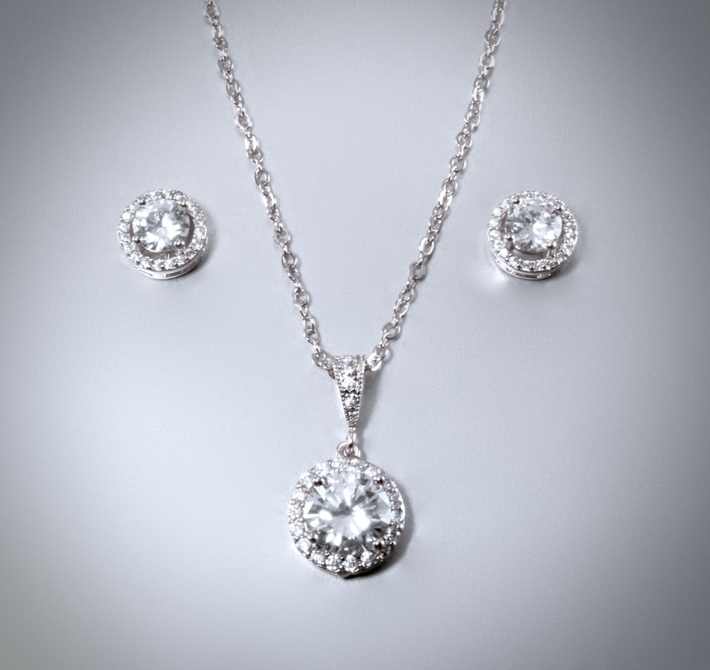 """Pandora"" - Bridal Necklace and Earrings Set"