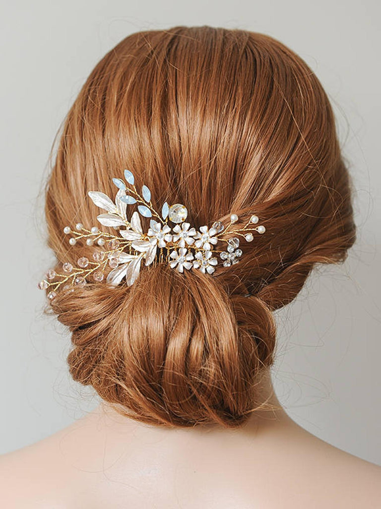 Wedding Hair Accessories - Bohemian Crystal Hair Comb - Available in Gold and Silver