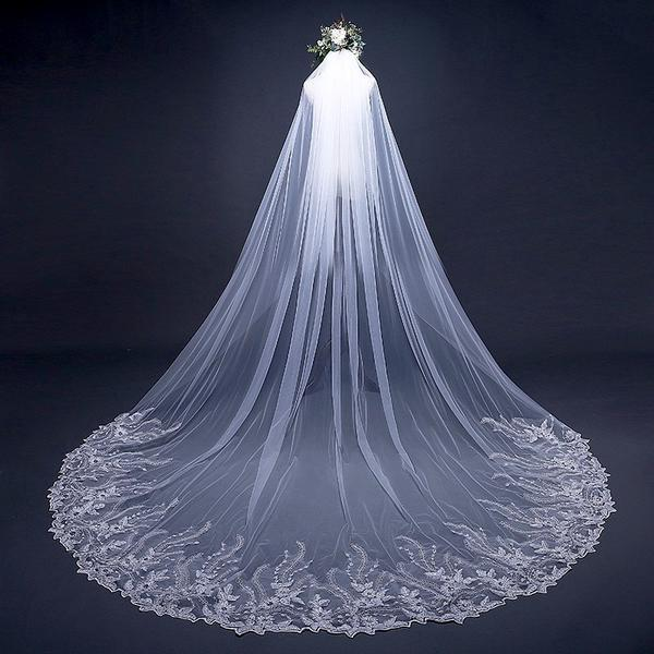 Wedding Veil Cathedral Length White or Ivory