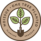 Noissue One Tree Planted logo, showing a tree growing