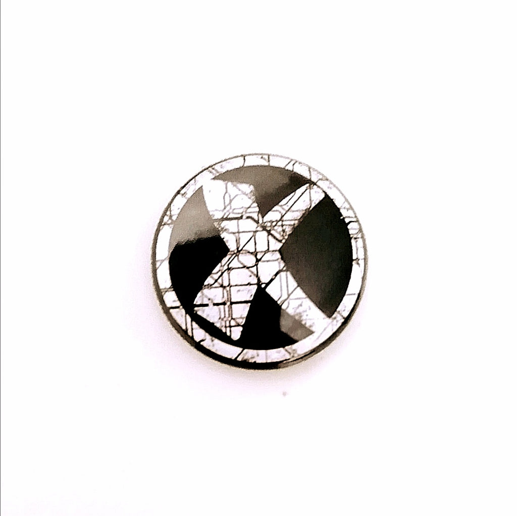X 25mm Pin Badge