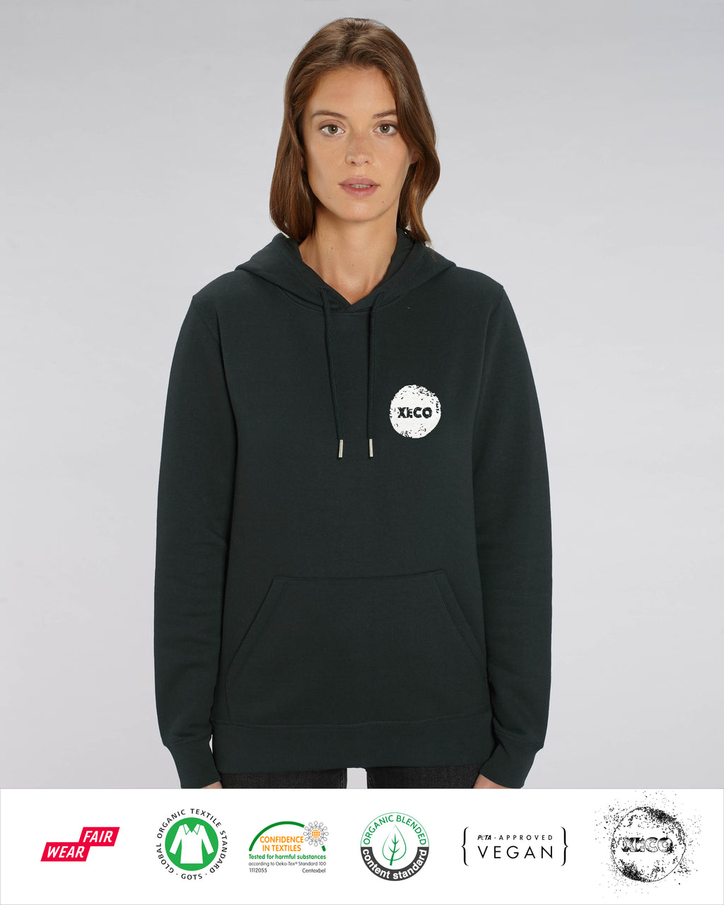 Origins - Unisex Embroidered Hoodie - Black