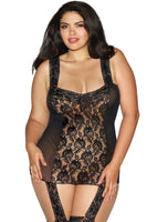 Rose Lace Gartered Bodystocking