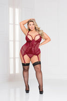 Two piece chemise set.  Floral lace and net chemise and g-string