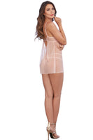 Opalescent Mesh and Embroidered Lace Chemise