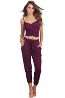 Soft Rib-Knit Jersey Camisole and Jogger Pants Sleepwear Set