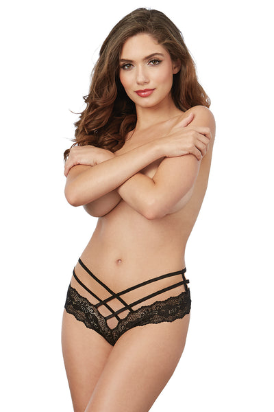 Criss-Cross Lace Tanga Panty