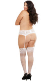 Stretch Lace Garter Belt