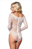 Long Sleeved Lace Teddy