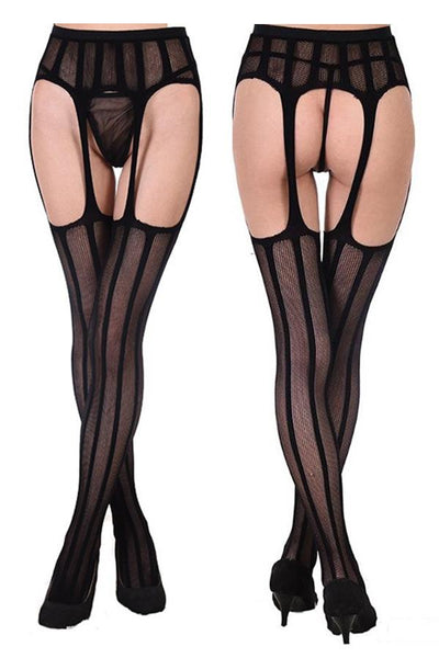 Sheer Suspender Stay Up Stockings (3 Pack)