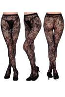 Floral Lace Pantyhose (3 Pack)