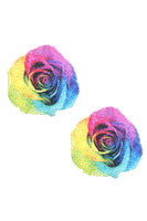 Freaking Awesome Pride Rainbow Rose Nipztix Pasties