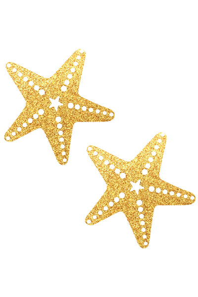 Gold Fairy Dust Glitter Sexy Starfish Pasties