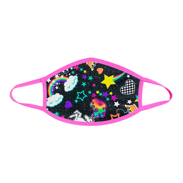 Girl Crush Neon UV Black Face Covering.