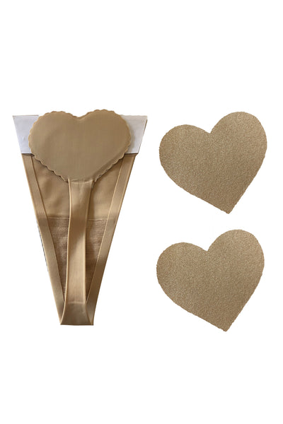 Nude Heart Invisi Knix Thong With Nipztix Pasties