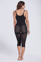 Thermal open bust capri bodyshaper