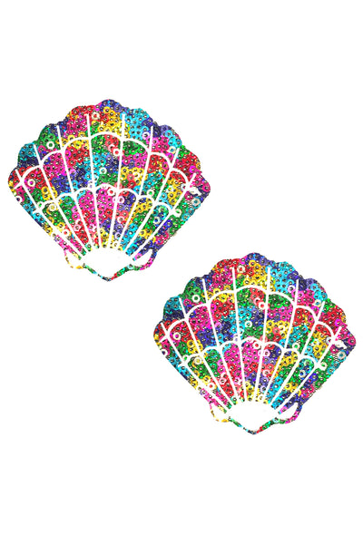 Unicorn Poo Multicolor Sparkle Sequin Mermaid Shell Pasties