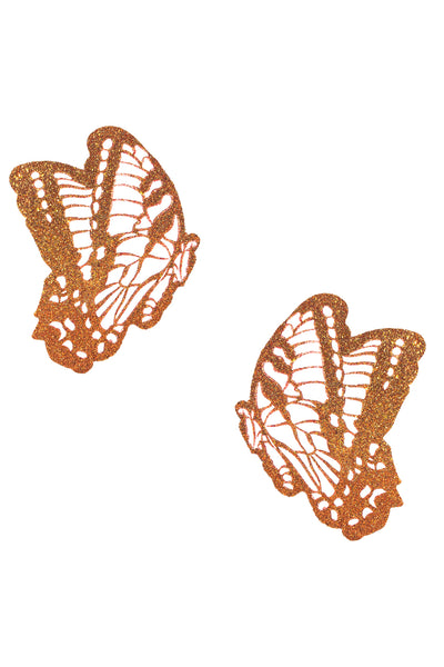Sparkle Orange Glitter Beautiful Butterfly Kisses Pasties