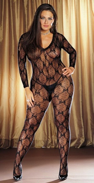 Long Sleeve Crotchless Bodystocking