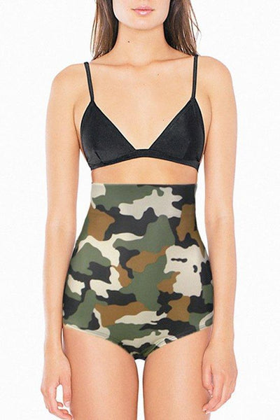 High-Waisted Camo Briefs