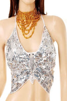 Butterfly Shaped Sequin Top