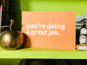 A Set of Five Compassionate and Affirming Postcards: You're Doing a Great Job