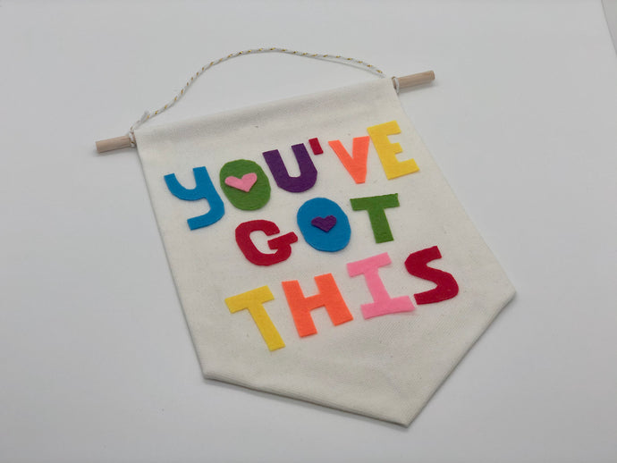 A Happy Little You've Got This Affirmation Banner
