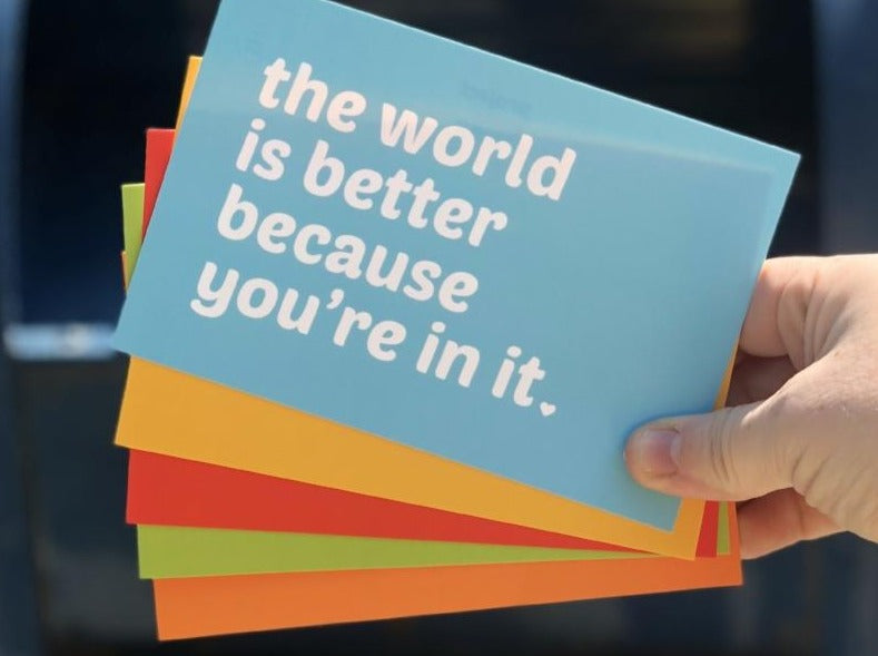 A Set of Five Compassionate and Affirming Postcards