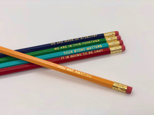 A Set of Five Bright and Happy Pencils