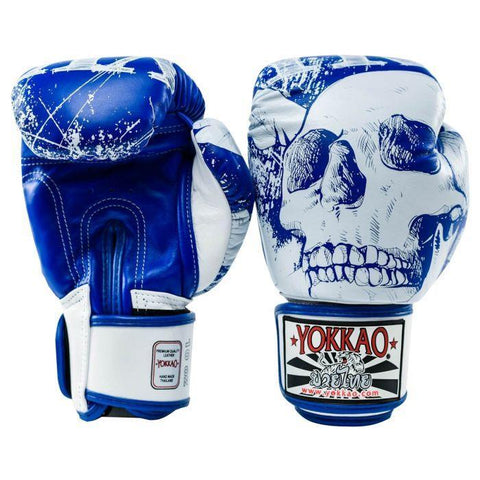YOKKAO SKULLZ GLOVES BLUE