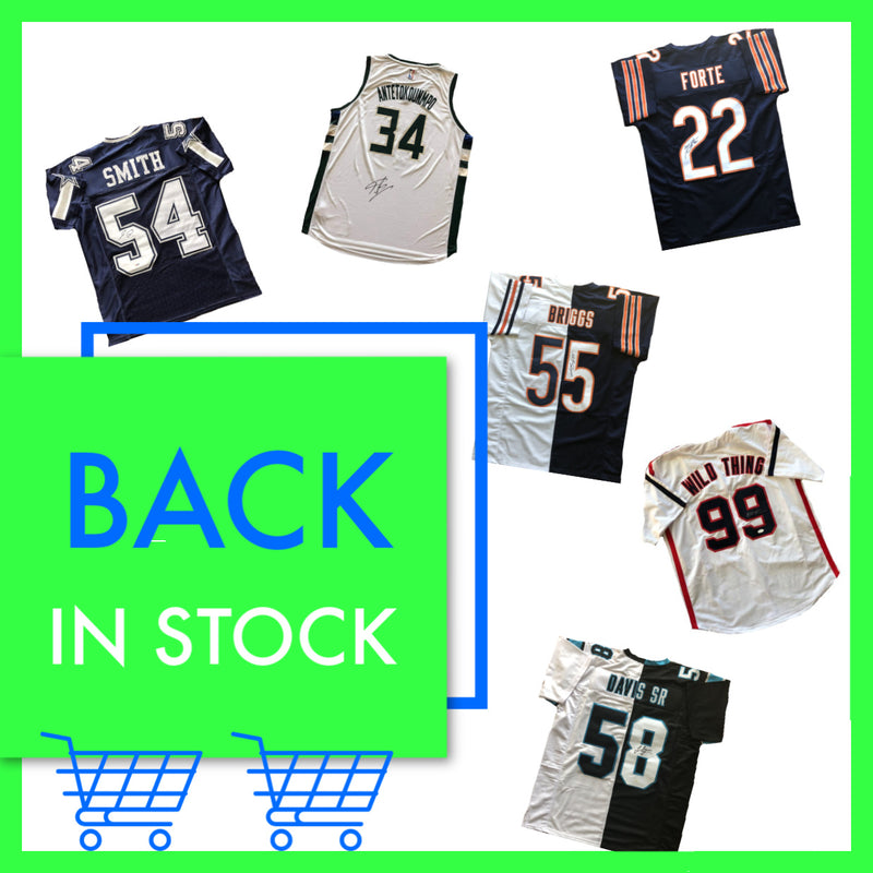 autographed jerseys back in stock for sale