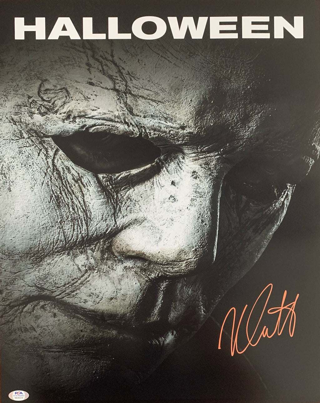 Nick Castle autographed signed 16x20 photo Halloween PSA COA Michael Myers - JAG Sports Marketing
